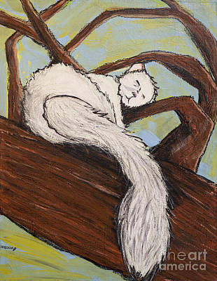 After The White Squirrel Festival Print by Becca Lynn Weeks