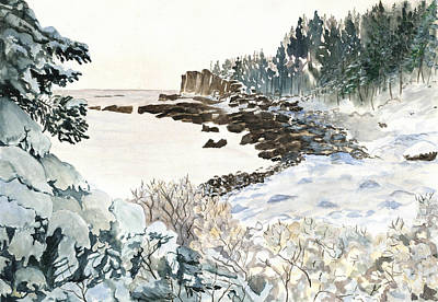 After The Winter Nor'easter Print by Carol Helene