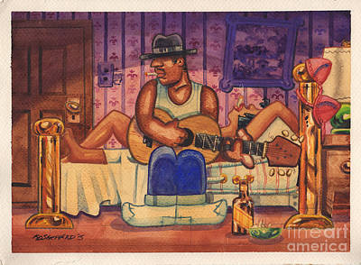 Black History Painting - Afterglow Blues by Keith Shepherd