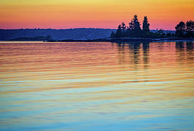 Afterglow On Johns River Print by Rick Berk