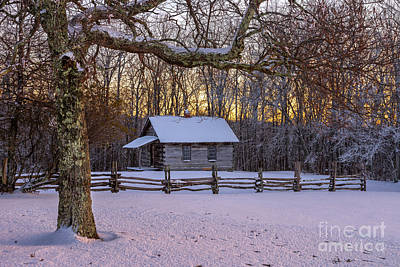 Afterglow Snow Print by Anthony Heflin