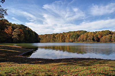 Afternoon At The Lake Print by Sandy Keeton