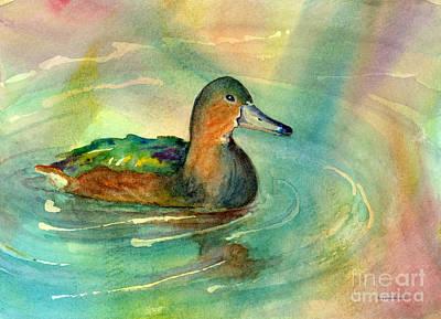 Mallards Painting - Afternoon Break by Amy Kirkpatrick