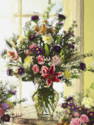 Flower Still Life Mixed Media - Afternoon Kissed Of Color by Stephen Lucas