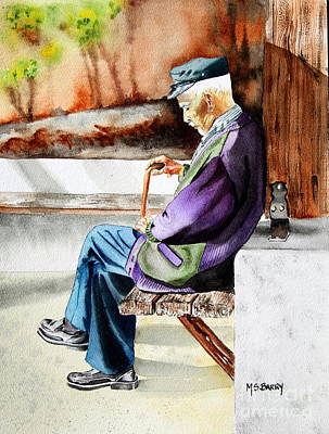 Rhodes Painting - Afternoon Nap by Maria Barry