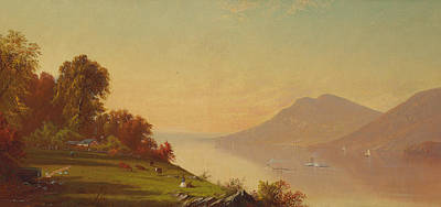 Afternoon On The Hudson  Print by Alfred Thompson Bricher