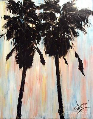 Afternoon Palms Print by Sherri Wimberly