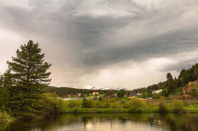 Small Towns Photograph - Afternoon Rollinsville Lightning Thunderstorms by James BO  Insogna