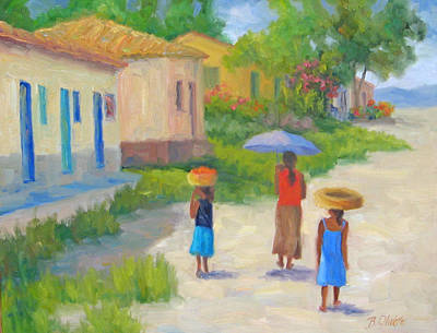 Casita Painting - Afternoon Stroll by Bunny Oliver