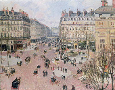 Midi Painting - Afternoon Sun In Winter by Camille Pissarro