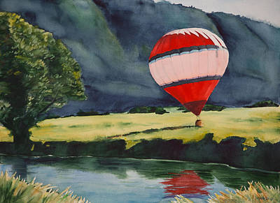 Watercolor Painting - Afternoon Touchdown by Christopher Reid