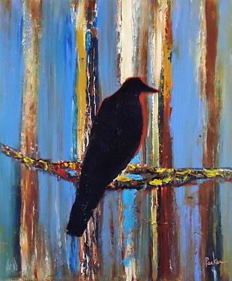 Impressionism Painting - Against The Barn Wood by Carl Parker