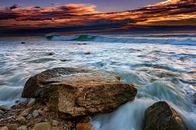 Montauk Photograph - Against The Tide At Montauk Point by Rick Berk