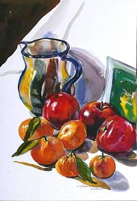 Tangerine Painting - Againt The Light by Doranne Alden