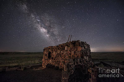 Zuni Photograph - Agate House At Night by Melany Sarafis