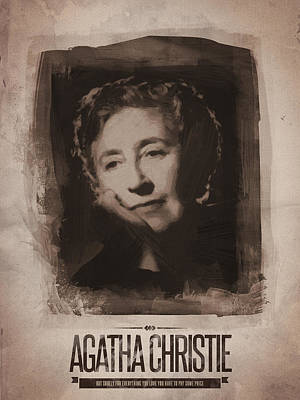 Sepia Digital Art - Agatha Christie 01 by Afterdarkness