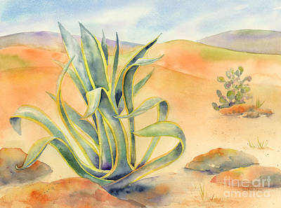 Sand Dunes Painting - Agave In Borrego by Amy Kirkpatrick
