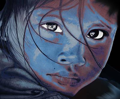 Ageless Eyes Melancholy Girl Original by Tony Rubino