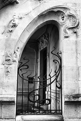 Agen Art Nouveau Gate And Door Print by Georgia Fowler