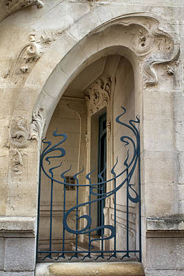 Agen Art Nouveau Gate Print by Georgia Fowler