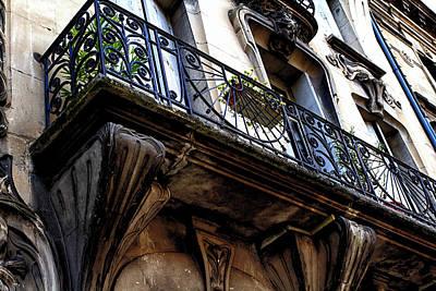 Agen Balcony In France Print by Georgia Fowler