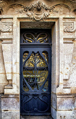 Agen France Blue Door Print by Georgia Fowler