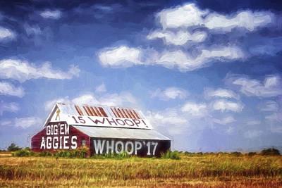Aggie Barn Iv Print by Joan Carroll