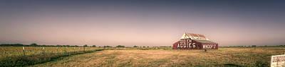 Aggie Barn Panorama Print by Joan Carroll