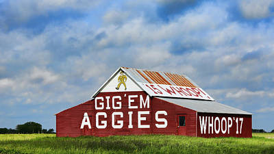 Aggie Nation Barn Print by Stephen Stookey