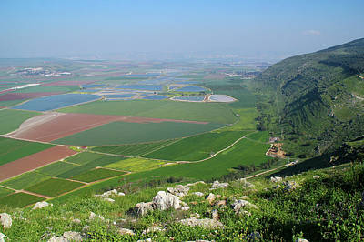 View From  Mount Gilboa Print by Yoel Koskas