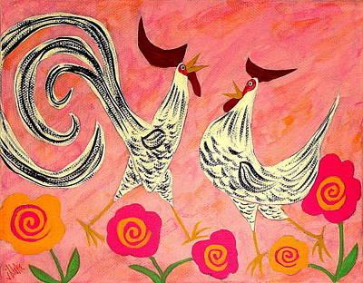 Folk Art Painting - Ain't Love Grand by John Blake