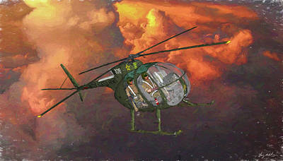 Digital Art - Air Cavalry Scout - Oil by Tommy Anderson