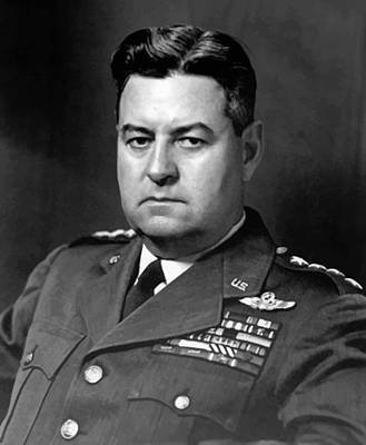 Aviator Print featuring the painting Air Force General Curtis Lemay  by War Is Hell Store