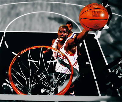 Air Jordan Above The Rim Print by Brian Reaves