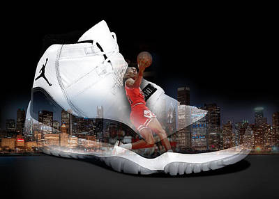 Shoe Digital Art - Air Jordan Chicago by Britten Adams