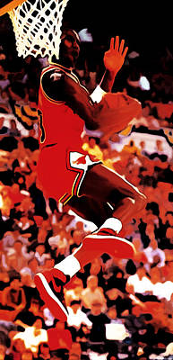 Air Jordan Cradle Dunk Print by Brian Reaves