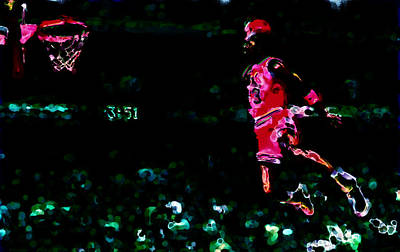 Air Jordan In Flight Thermal Print by Brian Reaves