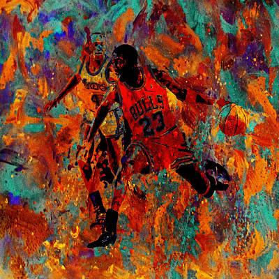 Air Jordan In The Paint 02a Print by Brian Reaves