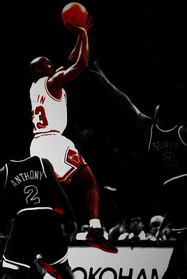 Air Jordan Over John Starks Print by Brian Reaves