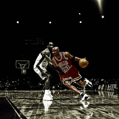 Air Jordan Shake Print by Brian Reaves