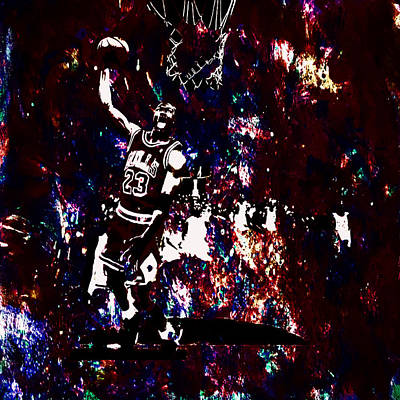 Air Jordan Slam In The Paint Print by Brian Reaves