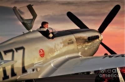 Ghost Digital Art - 'air Racing Legends Jimmy Leeward And  The Galloping Ghost' by Gus McCrea