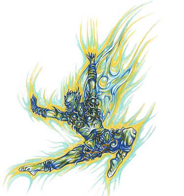Drawing - Air Spirit 19 by Alma