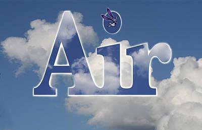 Digital Art - Air Title by Alma
