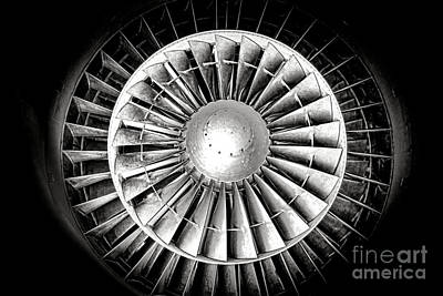 Aircraft Turbofan Engine Print by Olivier Le Queinec