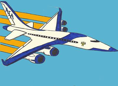 Airliners Mixed Media - Airline by Ronald Woods