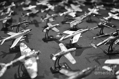 Airplane Collection - Black And White Print by Stefano Senise