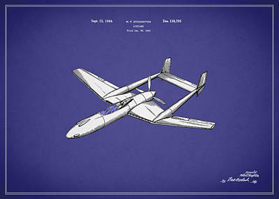 Airplane Photograph - Airplane Patent 1944 by Mark Rogan