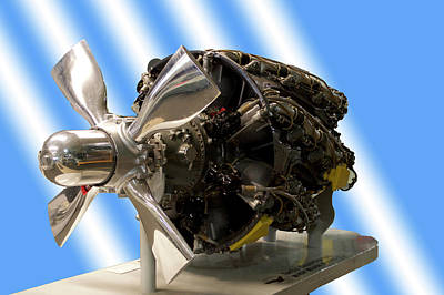 Warbird Mixed Media - Airplanes Prop And Engine by Thomas Woolworth