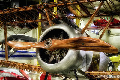 Airplanes Wooden Propeller Sopwith F1 Camel Pa Print by Thomas Woolworth